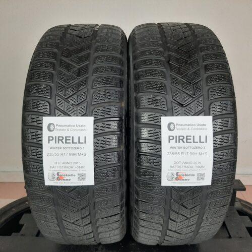 235/55 R17 99H M+S Pirelli Winter Sottozero 3 – 60% +5mm – Gomme Invernali