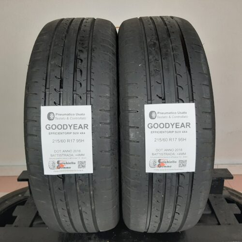 215/60 R17 95H Goodyear EfficientGrip SUV 4×4 – 50% +4mm – Gomme Estive