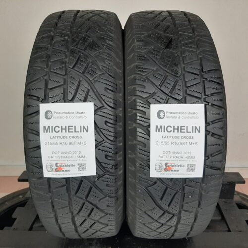 215/65 R16 98T M+S Michelin Latitude Cross – 60% +5mm – Gomme 4 Stagioni