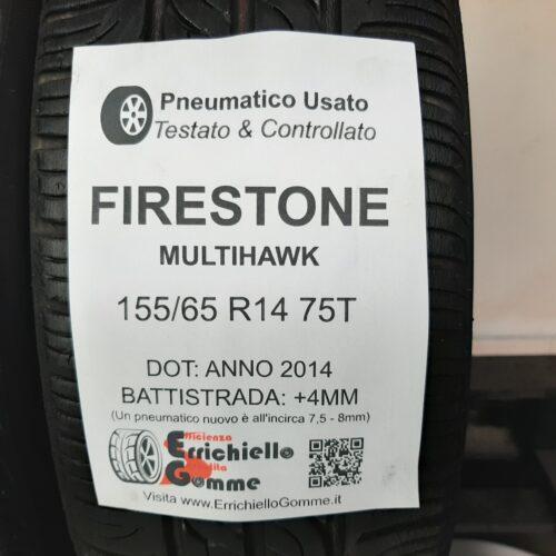 155/65 R14 75T Firestone MultiHawk –  50% +4mm – Gomme Estive