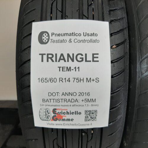 165/60 R14 75H M+S Triangle TEM-11 – 60% +5mm – Gomme Estive