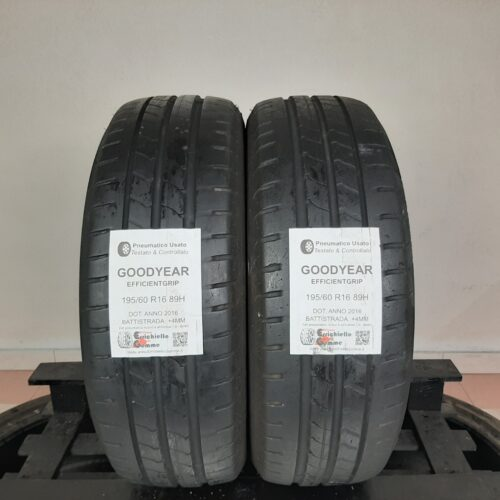 195/60 R16 89H Goodyear EfficientGrip – 50% +4mm – Gomme Estive