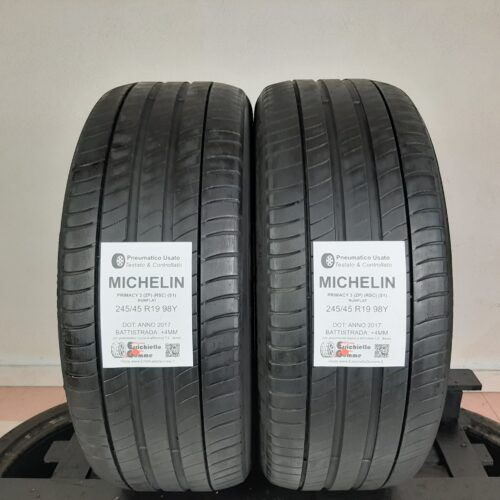 245/45 R19 98Y Michelin Primacy 3 (ZP) (RSC) (S1) Runflat – 50% +4mm – Gomme Estive