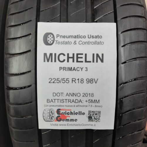 225/55 R18 98V Michelin Primacy 3 –  60% +5mm – Gomme Estive
