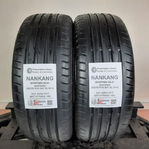 205/55 R16 94V XL M+S Nankang Sportnex AS-2+ (Reinforced) – 60% +5mm – Gomme Estive