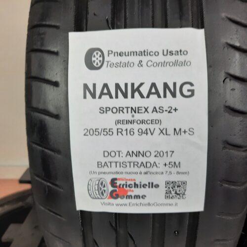 205/55 R16 94V XL M+S Nankang Sportnex AS-2+ (Reinforced) – 60% +5mm – Gomme Estive