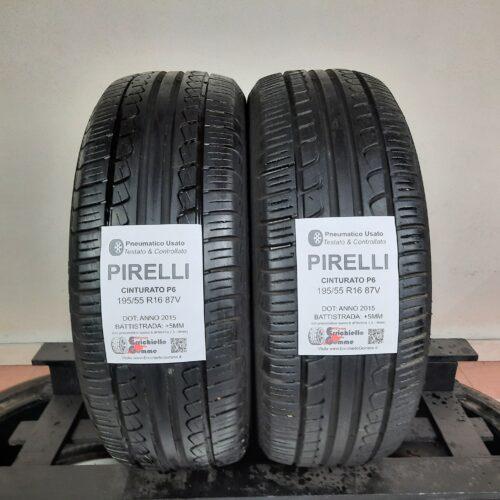 195/55 R16 87V Pirelli Cinturato P6 –  60% +5mm – Gomme Estive