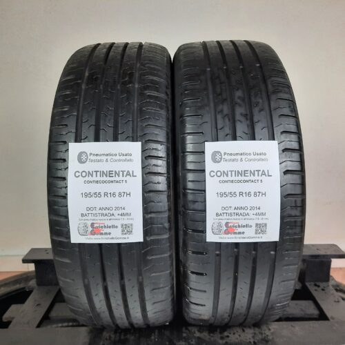 195/55 R16 87H Continental ContiEcoContact 5 – 50% +4mm – Gomme Estive