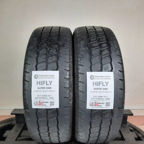 215/65 R16C 109/107T 8PR M+S HiFly Super 2000 – 60% +5mm Gomme Trasporto 4 Stagioni