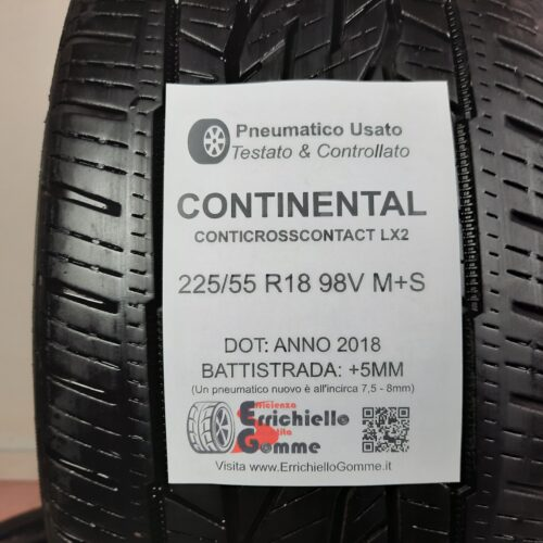 225/55 R18 98V M+S Continental CrossContact LX2 –  60% +5mm Gomme 4 Stagioni