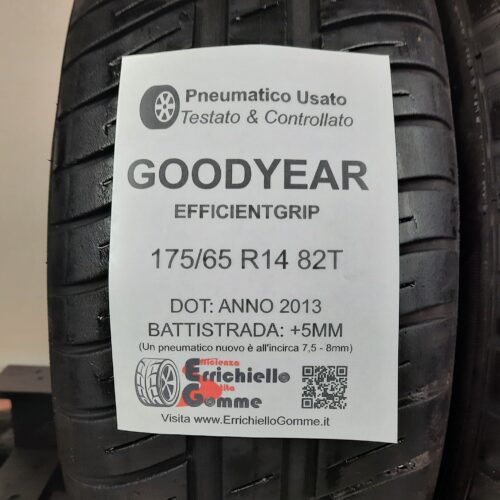 175/65 R14 82T Goodyear EfficientGrip –  60% +5mm Gomme Estive
