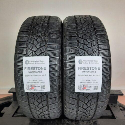 205/55 R16 94V XL Firestone WinterHawk 3 – 60% +5mm – Gomme Invernali